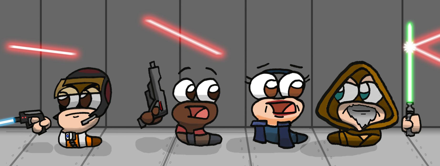 Finn+Poe+Luke+Leia
